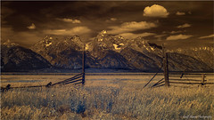 Grand Tetons Infrared (geoff_sharpe) Tags: grand tetons wyoming infrared sky clouds mountains