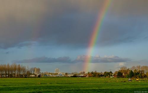 Rainbow above Groningen