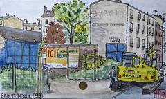 La France des sous-préfectures 93 (chando*) Tags: aquarelle watercolor croquis sketch france
