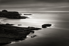 Pacific Split (StefanB) Tags: 2017 bw california coast em5 geotag longexposure monochrome pacific santacruz seascape fourmilebeach horizon 1235mm