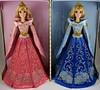 Harrods Aurora 17'' Doll Gift Set - LE 100 - UK Disney Store at Harrods - Reboxed - Standing Side By Side - Full Front View (drj1828) Tags: uk harrods aurora pink blue 17inch limitededition le100 purchase deboxed sidebyside standing reboxed