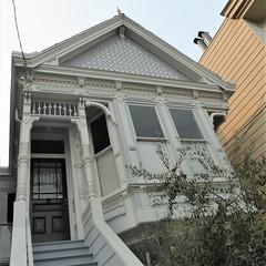 San Francisco, CA, Noe Valley, Victorian Residence (Mary Warren 13.5+ Million Views) Tags: sanfranciscoca noevalley architecture building house residence victorian gray entrance portal door