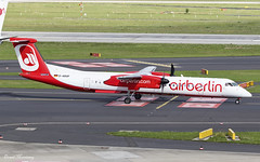 Air Berlin Dash-8 D-ABQP (birrlad) Tags: dusseldorf dus international airport germany aircraft aviation airplane airplanes airline airliner airlines airways taxi taxiway takeoff departing departure runway rotate climbing airberlin bombardier dash8 q400 turboprops prop air berlin dabqp