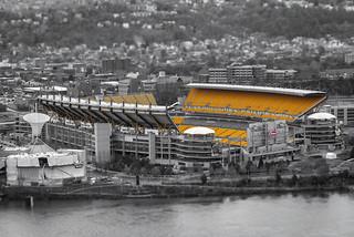 Heinz Field Stadium in Pittsburgh, Pennsylvania (Tilt-Shift)