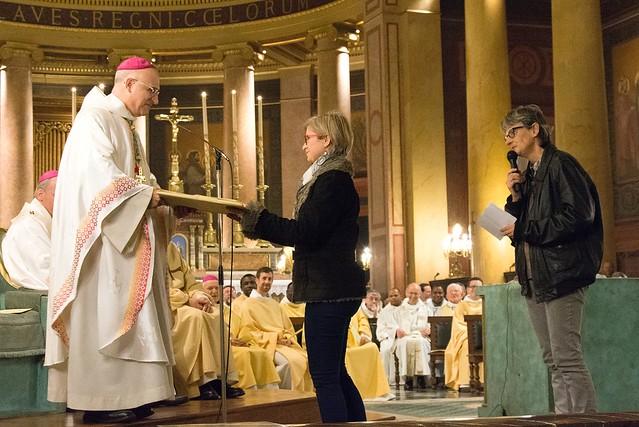 Remise des cadeaux : portrait de Léontine Dolivet par le service de la catéchèse