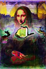 Mona Lisa #1 (moan.lisa@ymail.com) Tags: abstract art asemic asemicwriting collage digitalcollage moanlisa monalisa painting