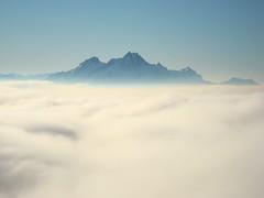 Mount Pilatus In The Sky (Daphne-8) Tags: nebelmeer mist fog clouds wolken rigi mountains berge bergen alps alpen alpes alpi schweiz switzerland suisse suiza svizzera svizra suíça winter inverno invierno hiver