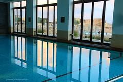 Inside the Beereshit hotel, Mitzpe Ramon, Israel - Indoor pool (jackfre 2) Tags: israel mitzperamon hotel hotelbeereshit luxurious indoorpool restaurant bar night artisticfruitplatter