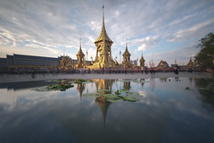 The Royal Crematorium (fredMin) Tags: long exposure reflexion travel thailand temple sanam luang beauty asia bangkok fujifilm xt1