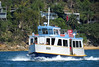 IMG_2899 Ferry Myra. (Boat bloke) Tags: sydney australia pittwater brokenbay ferry boat launch cruiser cruise water coast blue shore palmbeach beach classic timber wood canon sx50hs