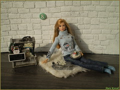 8.advent day - advent calendar with dolls 2017 (Mary (Mária)) Tags: christmas advent 2017 christmastime christmasornaments snowflake snowman snowglobe snow winter wonderland barbie mattel tris divergent diorama scene fashion doll photography photoshoot sledge miniatures december