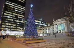 The Tree At The Gallery (Clayton Perry Photoworks) Tags: vancouver bc canada night lights christmas explorebc explorecanada city skyline tree christmastree vancouverartgallery vag
