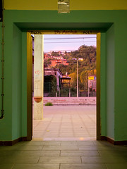 _A083968 (elsuperbob) Tags: ceccano frosinone lazio trainstation emptyspaces stazione morning sunrise doorway portal
