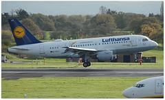 (Riik@mctr) Tags: manchester airport egcc dailu airplane grass tree lufthansa airbus a319 msn 744 lu sticker test reg davyi