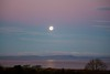 Supermoon setting 1 (allybeag) Tags: moon supermoon astronomy sky galloway criffel pink scotland reflection water