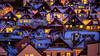 Rooftops of Bergen, Norway (Paulius Bruzdeilynas) Tags: bergen norway norge norwegian roofs houses rooftops winter snow mood evening night lights sony sonyalpha sonya7ii