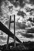 Hardanger Bridge (Hardangerbrua) (Angelo Petrozza) Tags: hardangerbrua hardanger bridge bergen fiordo fjiord norway norvegia blackandwhite biancoenero bw angelopetrozza pentaxk70 1855mm clouds nuvole cielo sky monocrome