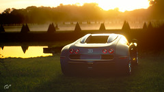 Relaxation (Mr. Pebb) Tags: bugatti photomode veyron france french supercar hypercar car midengined awd 4wd allwheeldrive twoseater twodoor granturismosport gt granturismo videogame racinggame racegame scape evening sunset light trees reflections yellow water pond bloom stock stockshot rear ps4 ps4pro 4k playstation4 playstation sony sonyinteractiveentertainment pd polyphonydigital