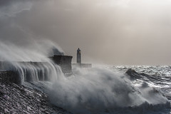 porthcawl waves (Star*sailor) Tags: lighthouse porthcawl storm brian waves wales sun clouds sea