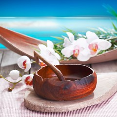 13385310_l (worldclassclubs) Tags: wooden ethnic food table water plate beach sand tropical exotic paradise treatment wellness set bowl dish bluesky resort bodycare spa therapy cultural pool luxury place spoon therapeutic flowers heaven pampering retreat strand orchids tablesetting placesetting