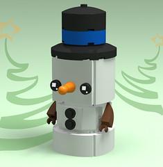 Snowman Brickheadz (monkey5321) Tags: lego brickheadz christmas holiday december snow man snowman