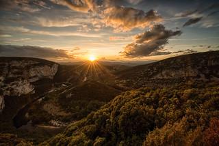 Coucher de soleil - Pont d'Arc - Ardèche