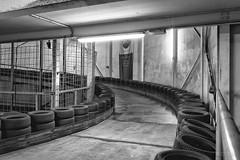 ramp up (CPbild) Tags: kart cbbild kartbahnbremen rennen indoor schwarzweiss blackandwhite monochrome bremen race racing blackwhite