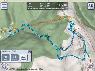 11/11/2017 - Traccia GPS 3D - Escursione Monte Cava (2000 m) e Monte San Rocco (1880 m), Parco Naturale Regionale Sirente-Velino, Tornimparte (AQ)