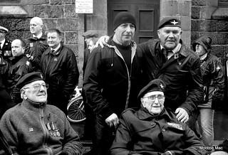 Veterans at Rememberance service Aberdeen