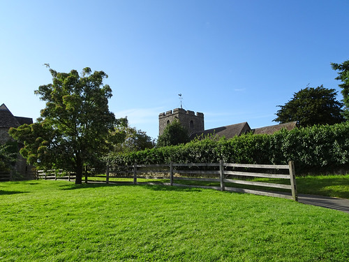 Grass in front of St John the Baptist's Church, Stokesay