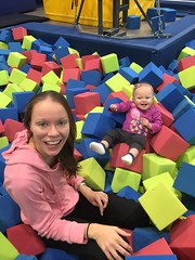 """Dani and Mommy in the Foam Pit During Gym Kittens • <a style=""""font-size:0.8em;"""" href=""""http://www.flickr.com/photos/109120354@N07/38346135262/"""" target=""""_blank"""">View on Flickr</a>"""