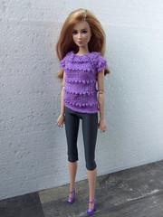 Barbie doll clothes. Violet (Purple) Hand-Knitted Sweater + Gray Leggings. Handmade set for Barbie (uliakiev) Tags: barbie barbiedoll barbiedollclothes barbieclothes barbiesweater barbiecollector barbiecollection barbiefan barbiefashion barbieclothing barbiedolls barbieshop barbiestyle barbiestream barbiecrochet barbieknit dollclothes dollsweater dollknitting