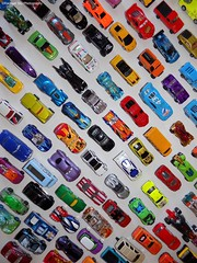 Can You Find? (rachael242) Tags: still life cars toys arrangement collection colors batmobile lightning mcqueen spiderman school bus find abstract lines shapes