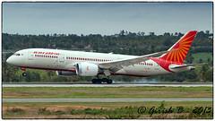 VT-ANJ (Girish Bhagnari) Tags: airindia dreamliner boeing 787 bangalore planespotting touchdown smoky vobl