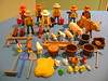 Playmobil Farmer parts (TekBrick) Tags: playmobil vintage farmers farm animals tools accessories shovels baskets figures