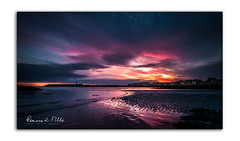 Gods Gift (RonnieLMills) Tags: sunrise dawn early morning colours sky clouds sand shore reflections donaghadee harbour lighthouse godsgift ronnielmills