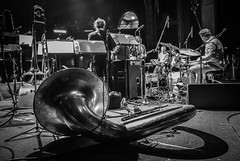 Horns Tacet (tim.perdue) Tags: view horn section horns tacet brass tuba sousaphone band last waltz tribute columbus ohio newport music hall concert performance stage live trombone trumpet shadow lights musical instrument wind black white bw monochrome monovember 2017 monovember2017