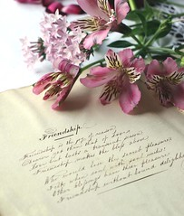 antique anthology (Strawbryb) Tags: antiqueanthology poertyandprose poetry friendship inklettering calligraphy