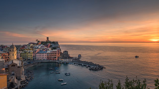 Italy - sunset at Vernazza