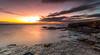 Rocks (Steven Peachey) Tags: sunrise light morning sea sky clouds tide beach rocks le ef1740mmf4l 5dmarkiv canon5dmarkiv leefilters lee09gnd formatthitech graduatedndfilter stevenpeachey lightroom whitburn southtyneside northeastcoast northeastengland