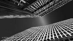 Urban View V - TOTAL Tower (NORDIC Lightbeams) Tags: berlin samyang12mmf20 architektur deutschland totalturm manuellesobjektiv schwarzweis germany totaltower tourtotal architecture bw blackandwhite manuallens primelens