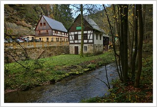Die Mühle am Eingang zum Großen Zschand