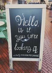 Hello.. Is it you were looking 4? (Daniella Velings) Tags: lookingfor chalkboard krijtbord storedecor winkeldecoratie work4us cutefind streetfun streetfinds streetartistry
