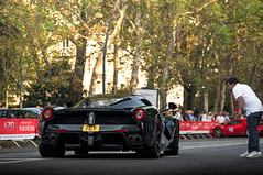 Giving directions. (David Clemente Photography) Tags: ferrari ferrarilaferrari laferrari laferrariaperta lafe blacklaferrari nikonphotography automotivephotography v12 cars supercars hypercars ferrarilaferrariaperta greatbritain photography ferrari70