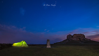 My tent with a view of the Stars #Moel Famau