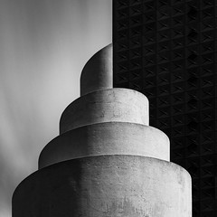 Chapel of Thanks-Giving No. 3 T (Mabry Campbell) Tags: dallas h5d50c hasselblad philipjohnson republictower texas thanksgivingsquare thanksgivingsquaretouristattraction architecture blackandwhite design downtown fineart image localattraction locallandmark longexposure monochrome photo photograph squarecrop touristattraction f71 mabrycampbell april 2017 april152017 20170415campbellb0001372 80mm 810sec 200 hc80