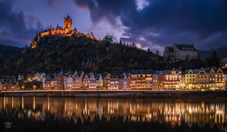 Blue hour in Cochem (Explore 30.11.17, #5)