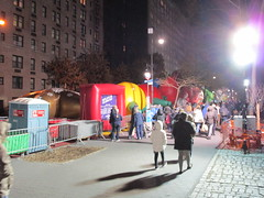 Pre - Parade Macys Balloon Blowout - Thanksgiving Eve 2017 NYC 3917 (Brechtbug) Tags: macys thanksgiving eve parade 2017 balloon blowup inflation joint stars elves balloons mascot net near natural history museum central park west 11222017 helium new character holiday york city christmas ornament blowing up inflating logo blowout blow out