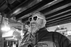 Andrea #2 (enzo marcantonio) Tags: venezia italy festa venice italia occhiali sunglasses venexian leica biancoenero blackandwhite portrait q leicaq hearts cuori