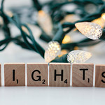 Christmas Lights Background with the letters lights in the Front thumbnail